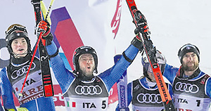 Team Event Ski-WM (Maurberger, Vinatzer, Tonetti)